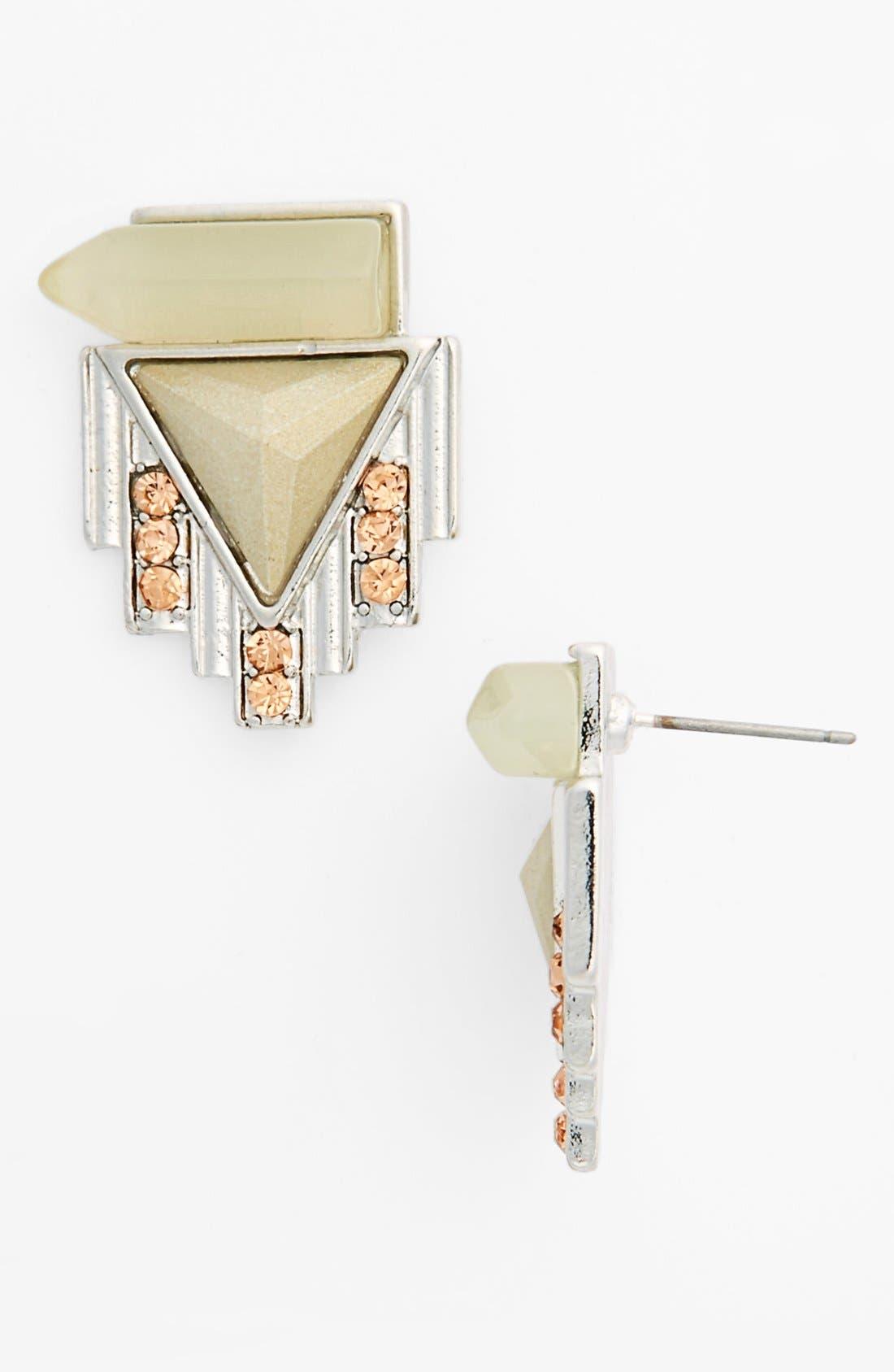Alternate Image 1 Selected - Spring Street 'Fortress' Stud Earrings