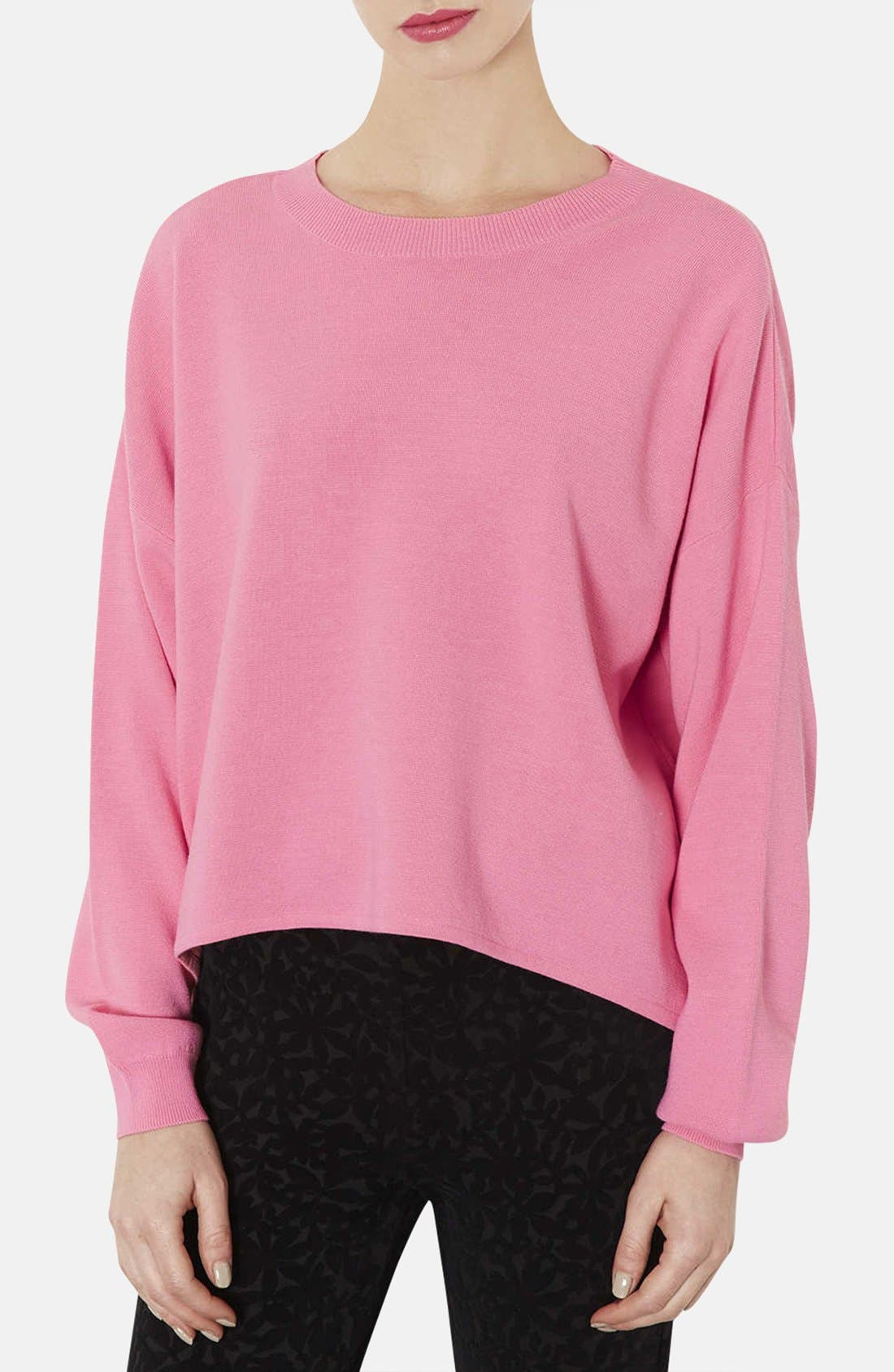 Alternate Image 1 Selected - Topshop High/Low Knit Sweater