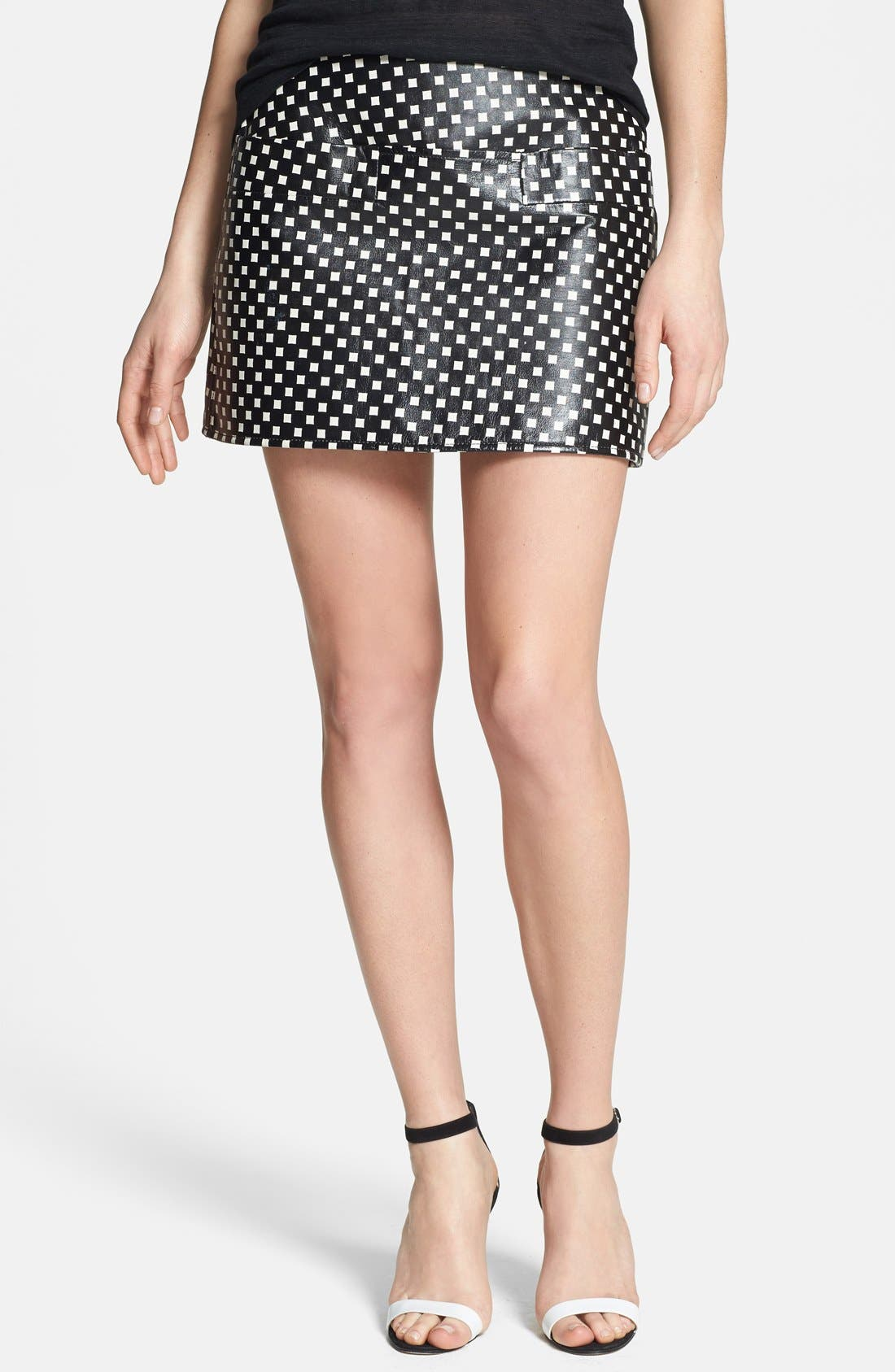Main Image - MARC BY MARC JACOBS Print Leather Skirt