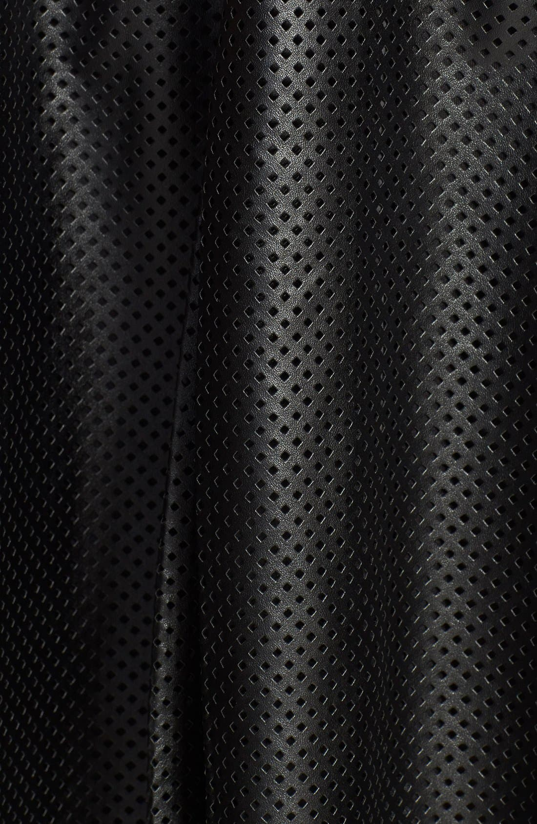 Alternate Image 3  - Calvin Klein Perforated Faux Leather Skirt