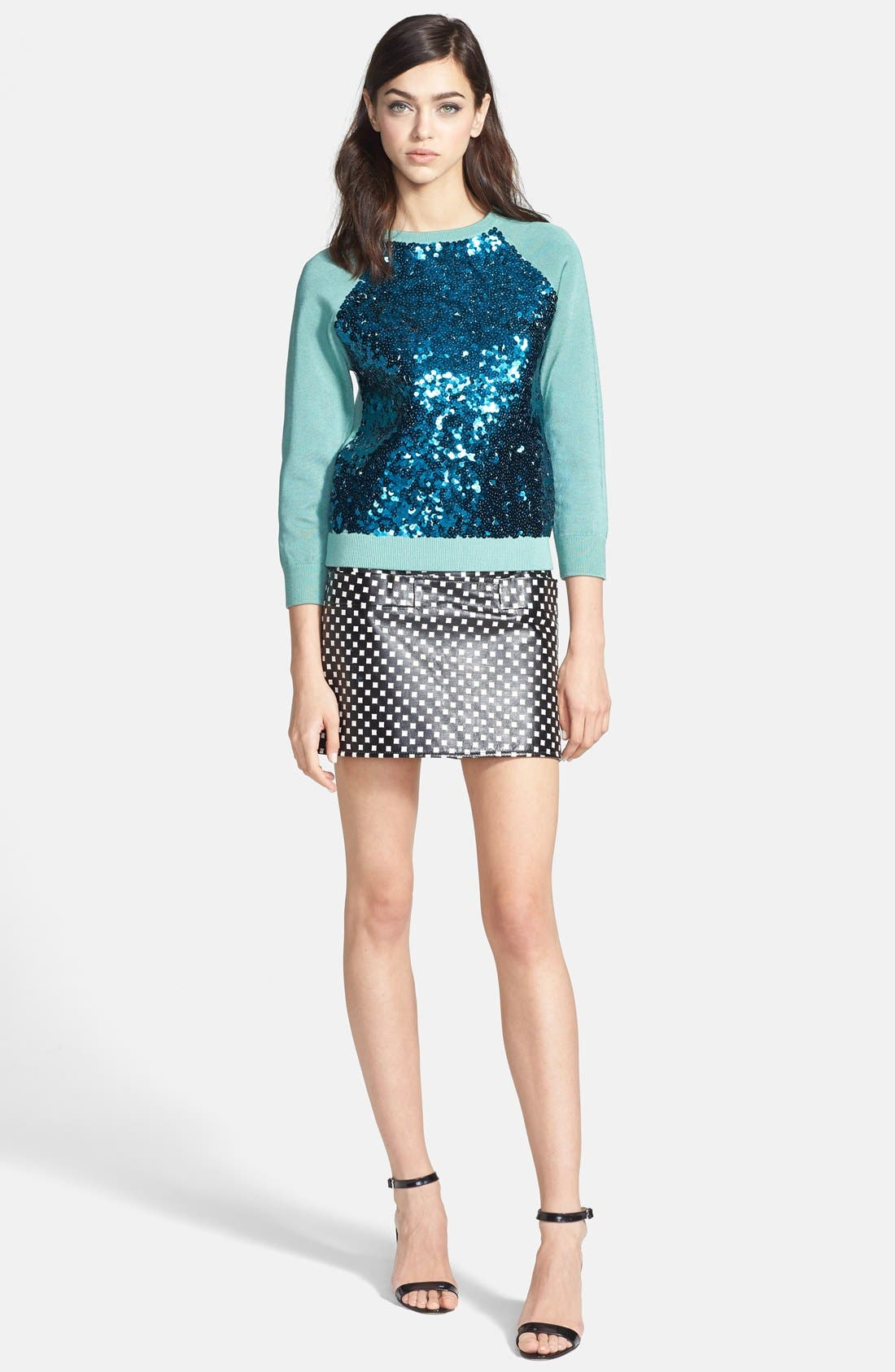 Alternate Image 4  - MARC BY MARC JACOBS Print Leather Skirt