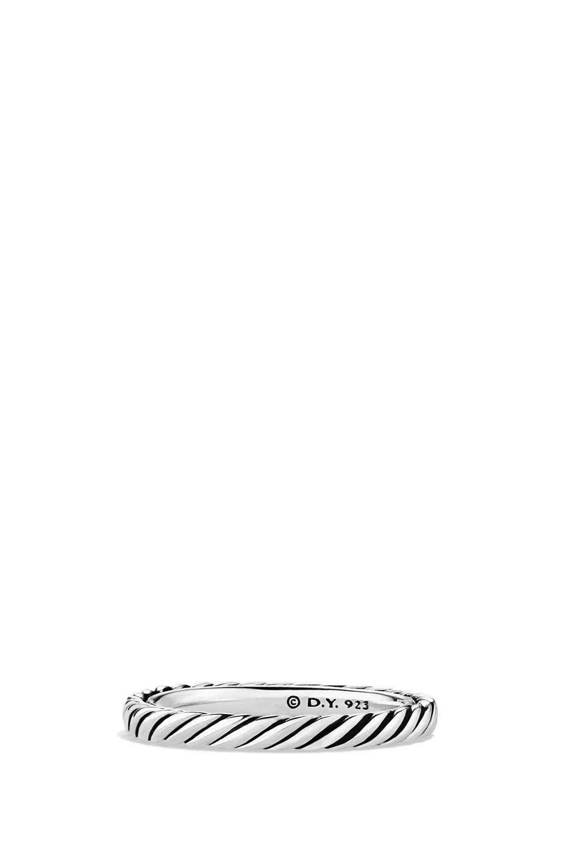 'Cable Classics' Band Ring,                             Main thumbnail 1, color,                             Silver