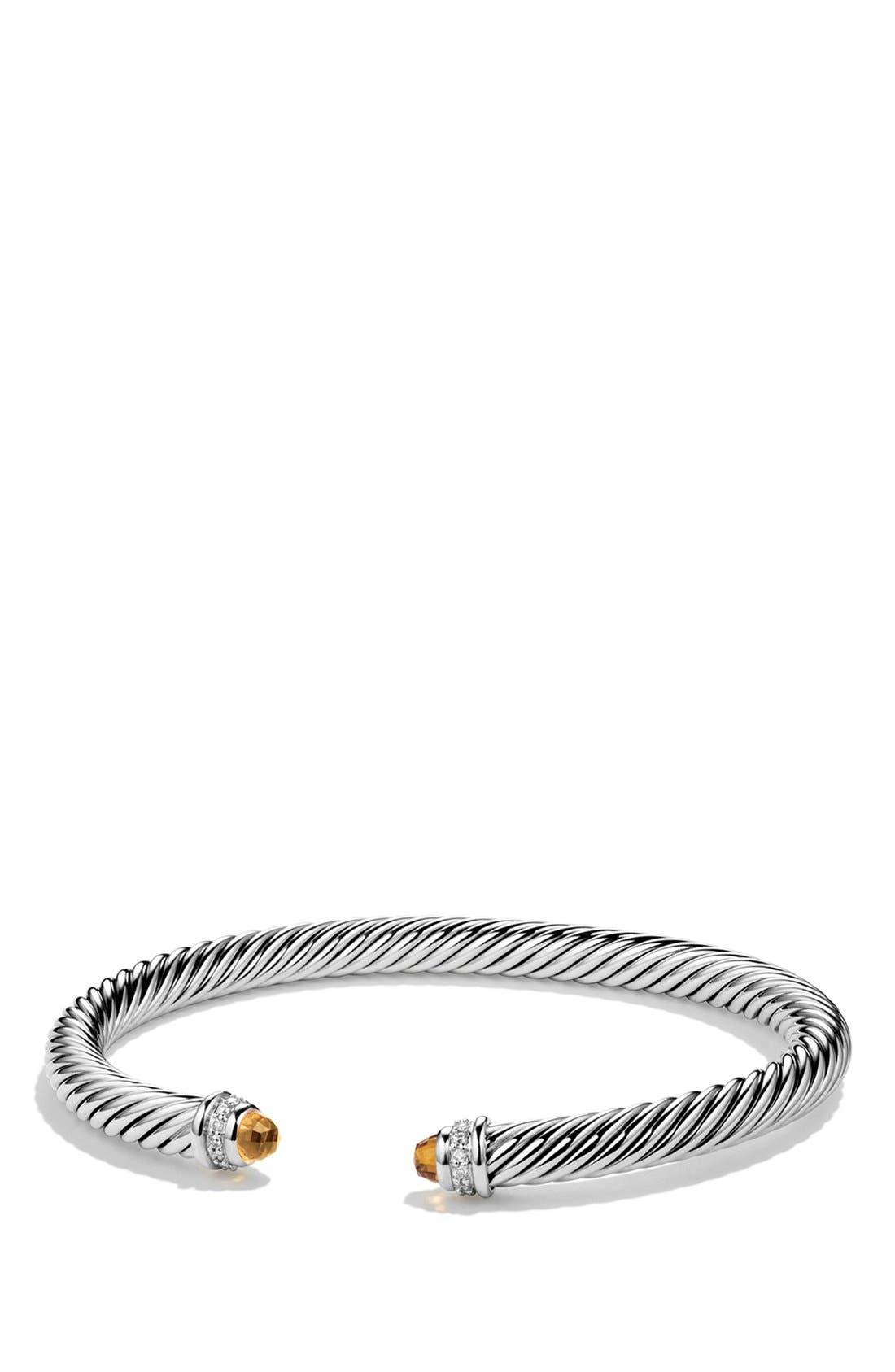 David Yurman 'Cable Classics' Bracelet with Semiprecious Stones & Diamonds
