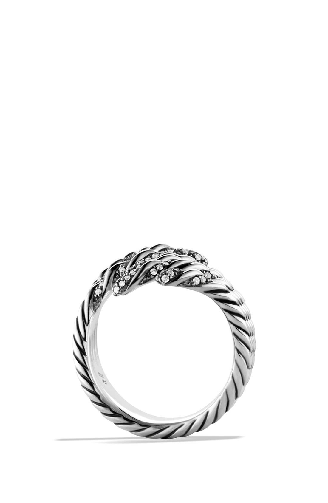 Alternate Image 4  - David Yurman 'Willow' Open Four-Row Ring with Diamonds
