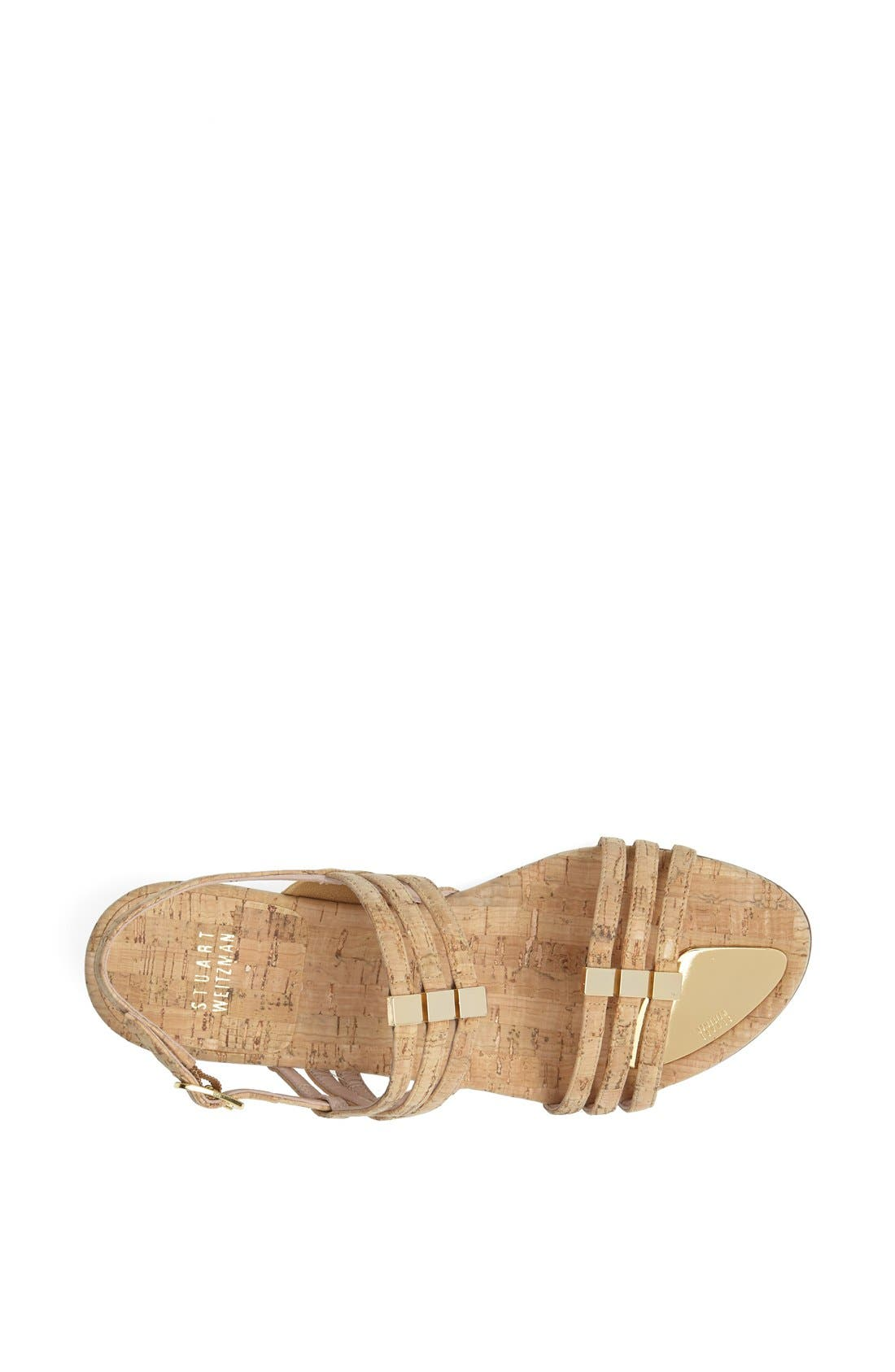 Alternate Image 4  - Stuart Weitzman 'Playful' Metallic Leather Sandal