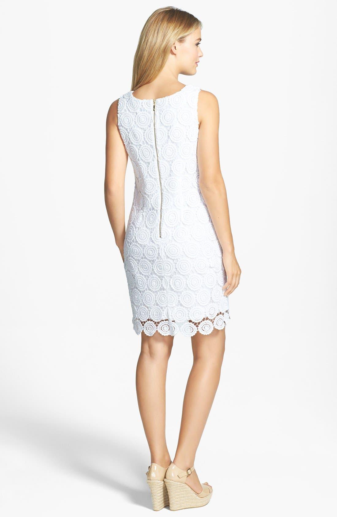Alternate Image 2  - Eliza J Eyelet Lace Shift Dress