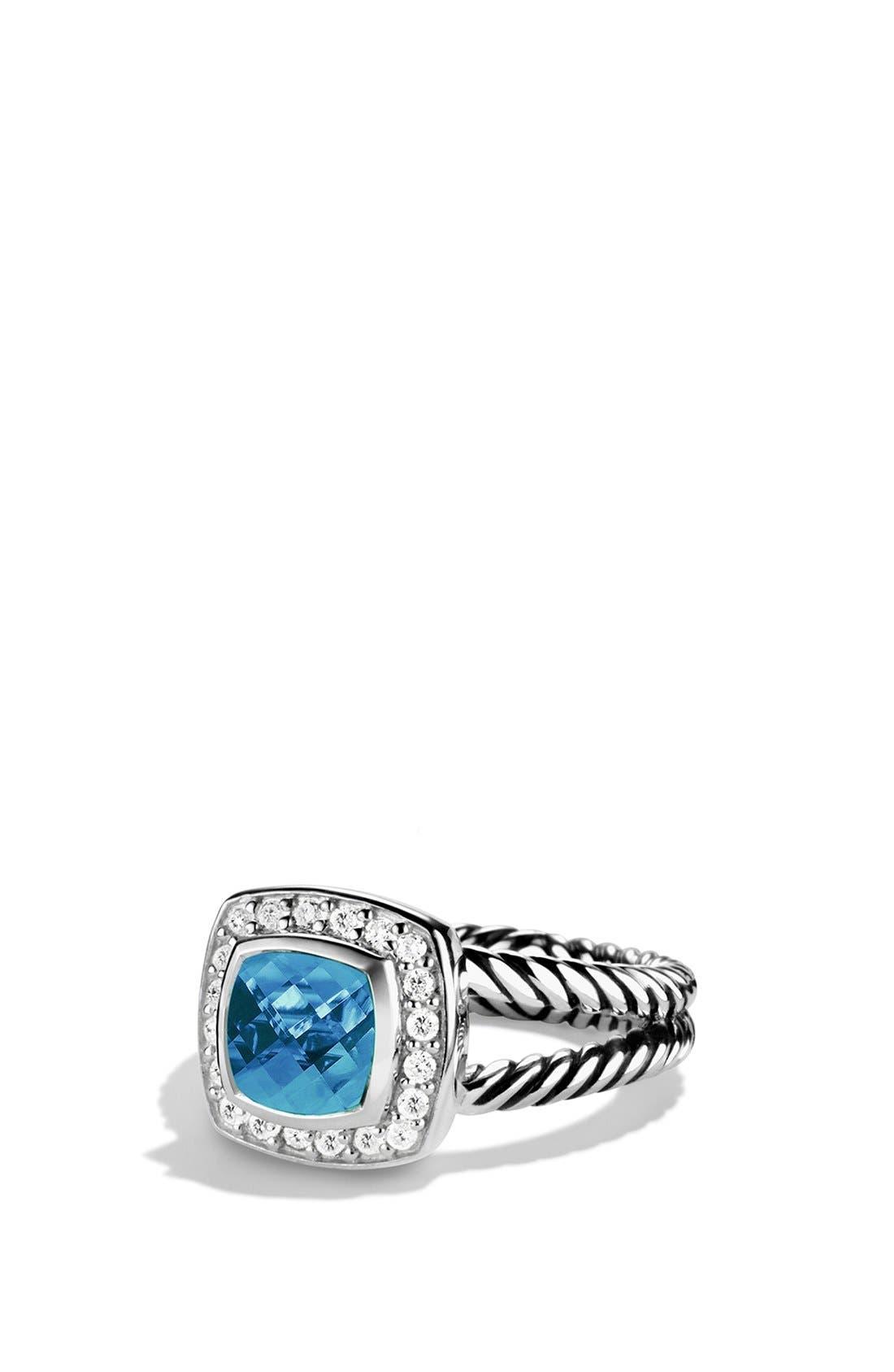 David Yurman 'Albion' Petite Ring with Semiprecious Stone & Diamonds