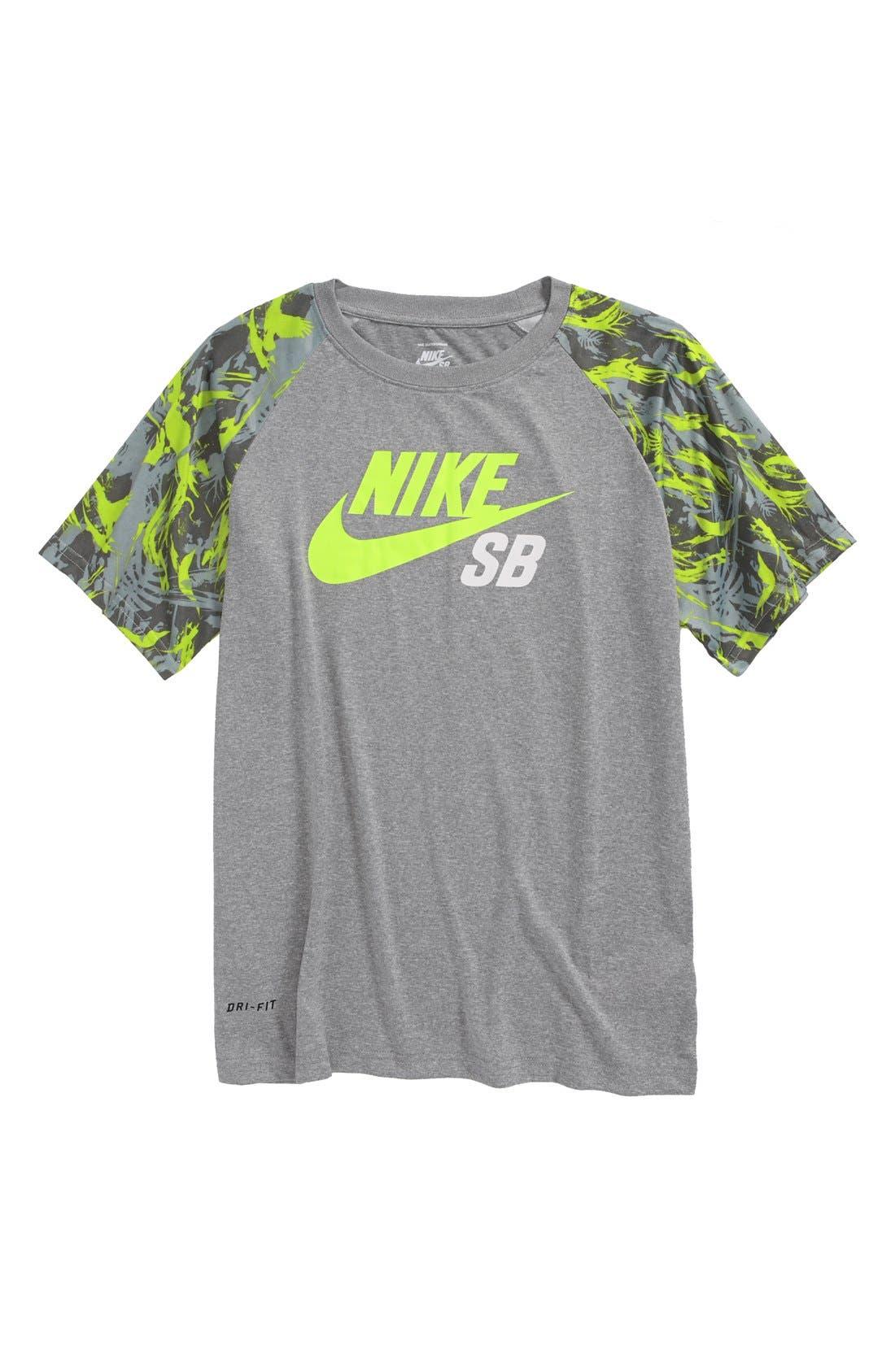 Alternate Image 1 Selected - Nike 'Lizard Camo' Dri-FIT T-Shirt (Big Boys)