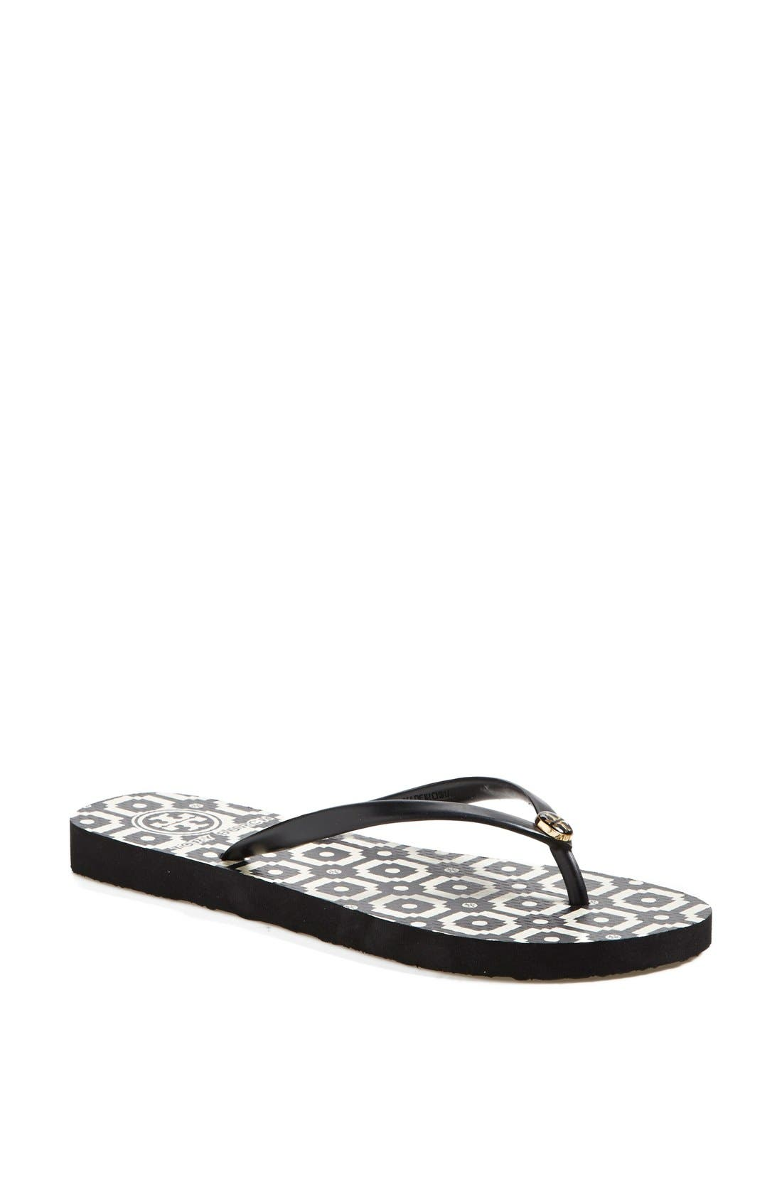 Alternate Image 1 Selected - Tory Burch Print Flip Flop