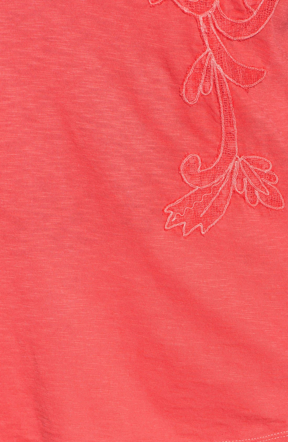 Alternate Image 3  - Lucky Brand Overdyed Soutache Tee (Plus Size)