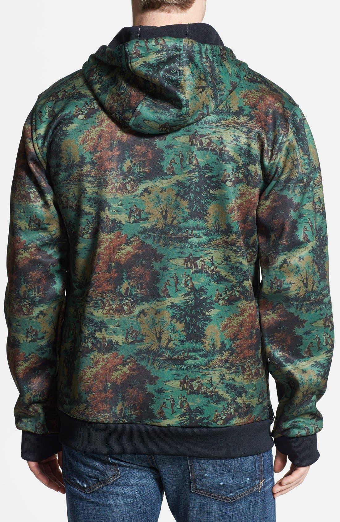 Alternate Image 2  - Burton Water Resistant Full Zip Fleece Hoodie