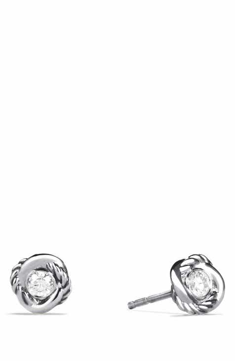 0be13f4ad63de David Yurman  Infinity  Earrings with Diamonds