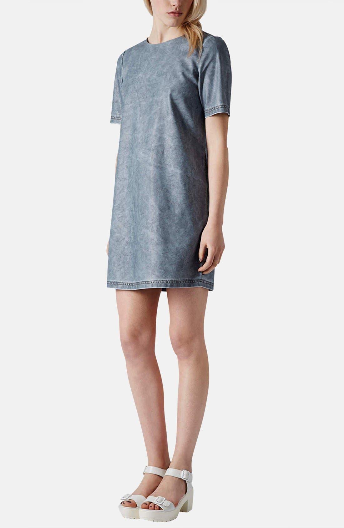 Alternate Image 5  - Topshop 'Daloma' Faux Leather Shift Dress