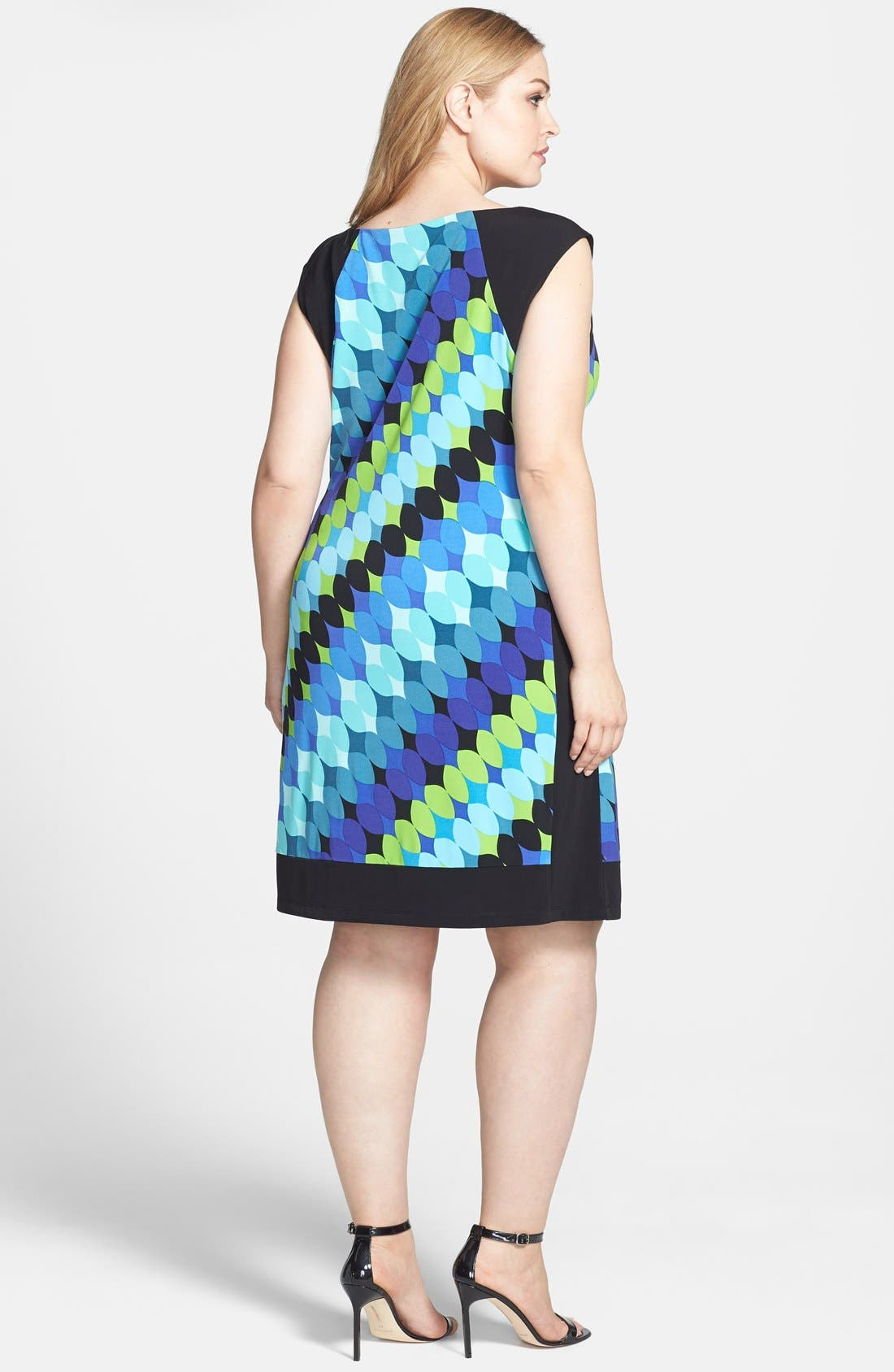Alternate Image 2  - London Times Print Shift Dress (Plus Size)
