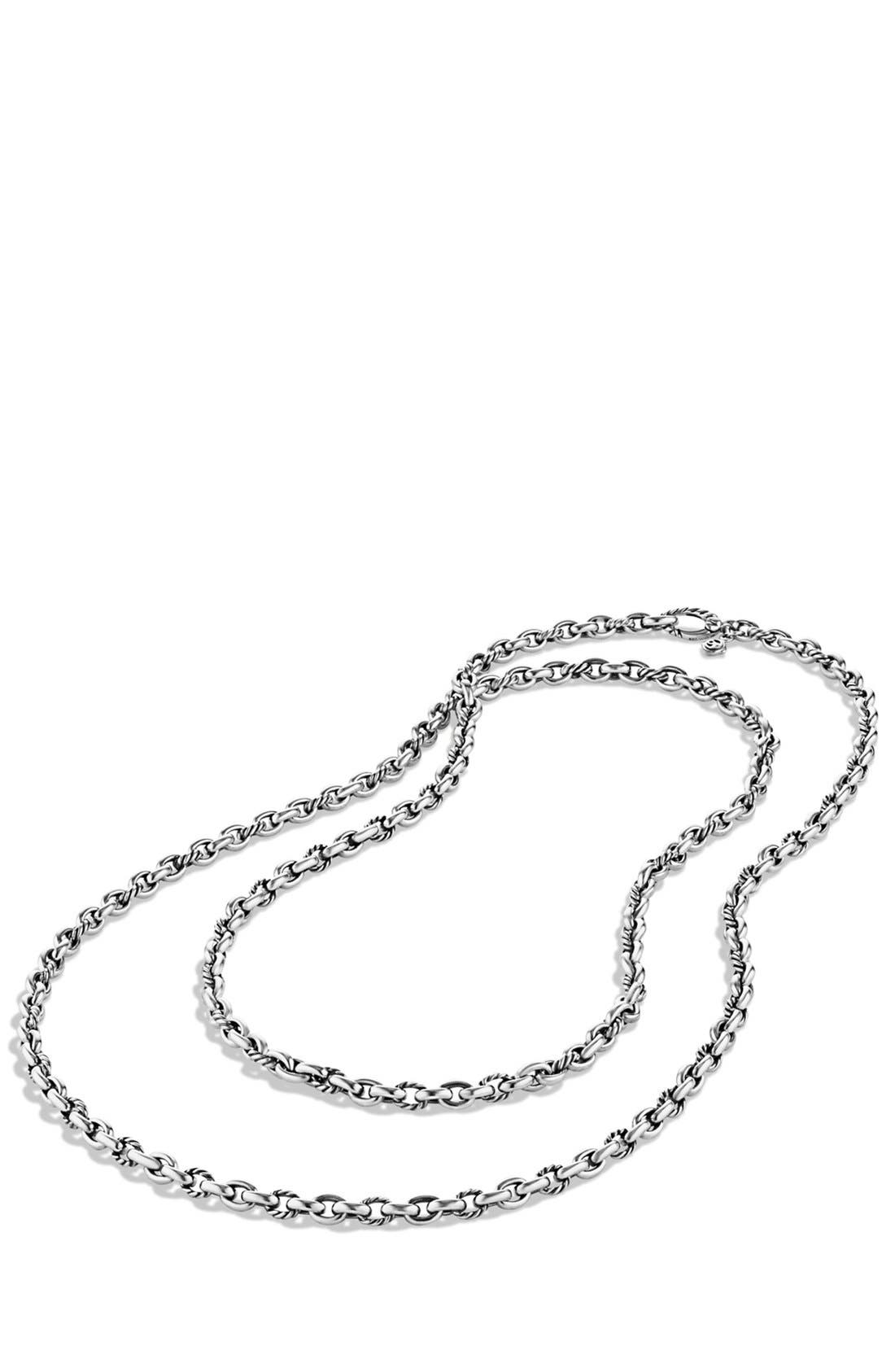 Oval Link Necklace,                             Alternate thumbnail 3, color,                             Silver