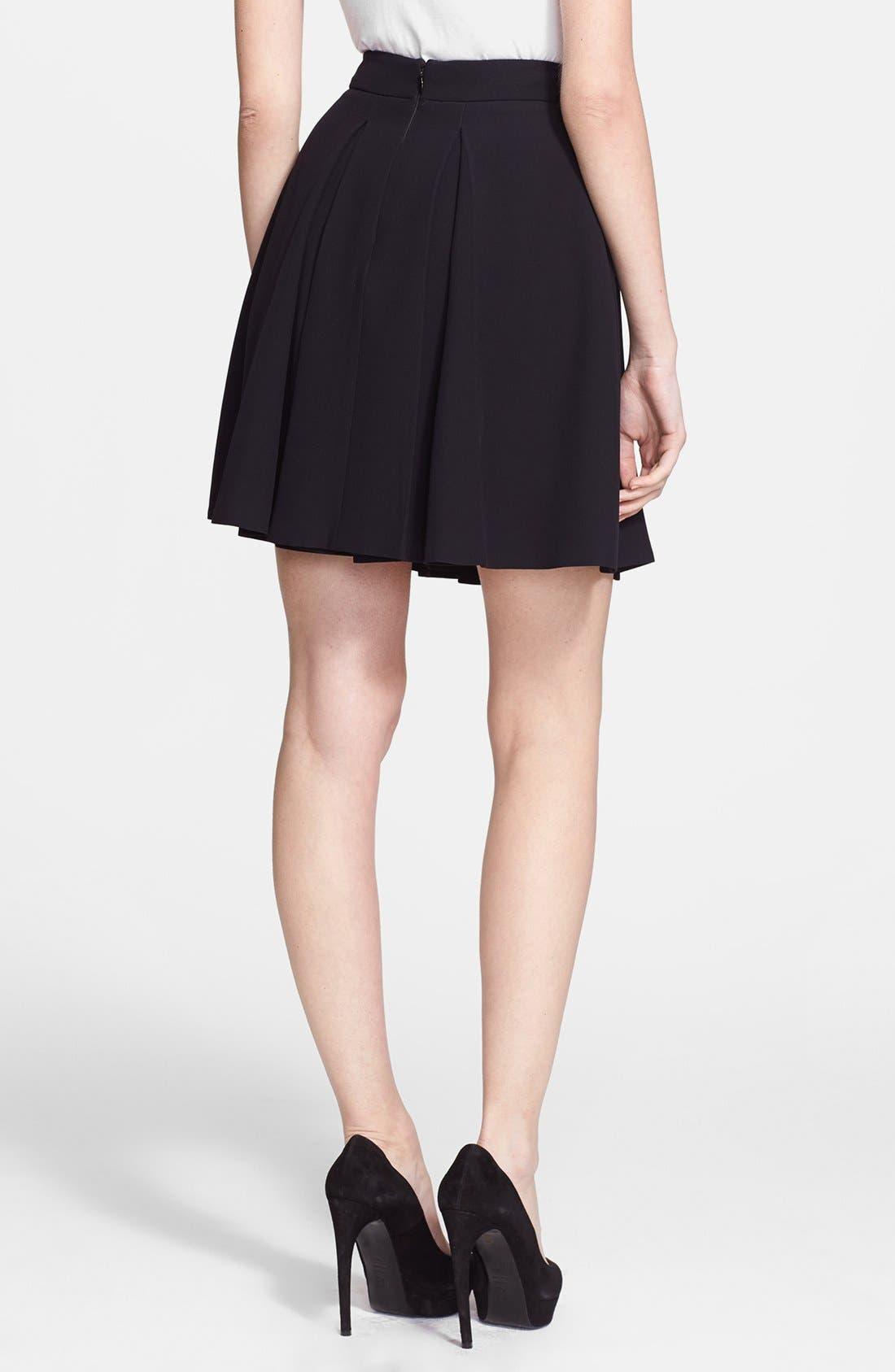 Alternate Image 2  - Alexander McQueen Pleat Flared Skirt