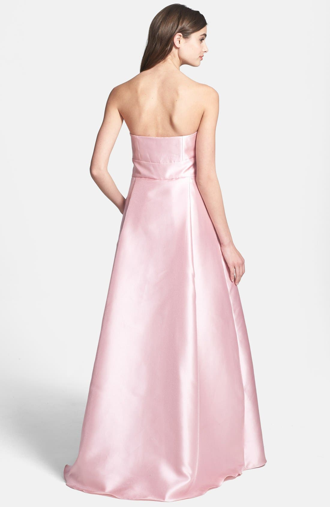 Alternate Image 2  - ML Monique Lhuillier Bridesmaids Satin A-Line Gown (Nordstrom Exclusive)