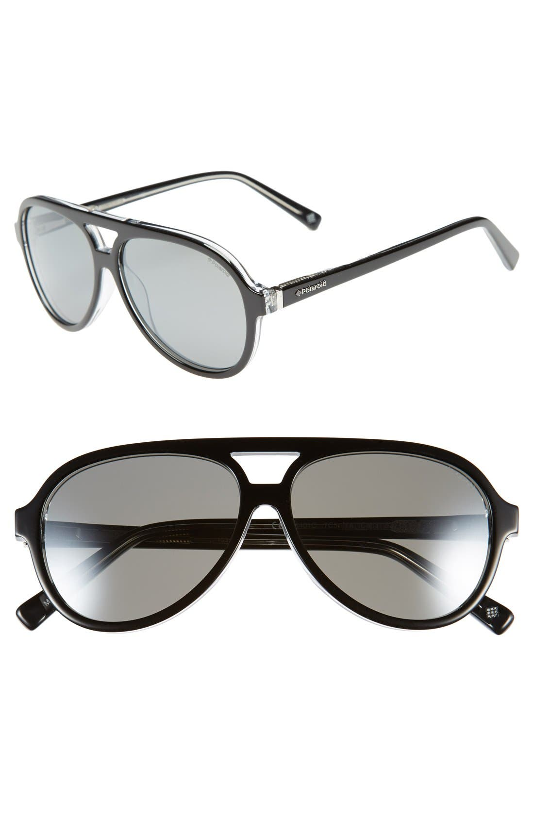 Main Image - Polaroid Eyewear 57mm Polarized Sunglasses