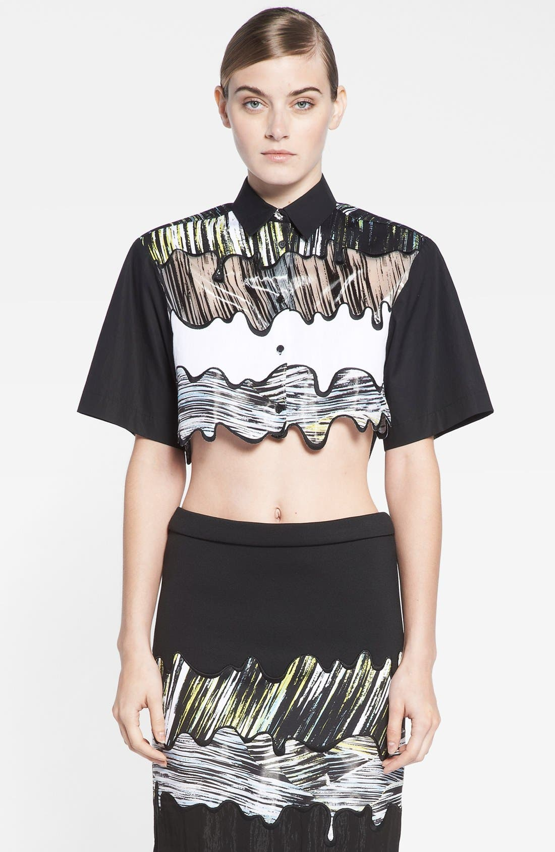 Alternate Image 1 Selected - KENZO Scalloped Crop Top