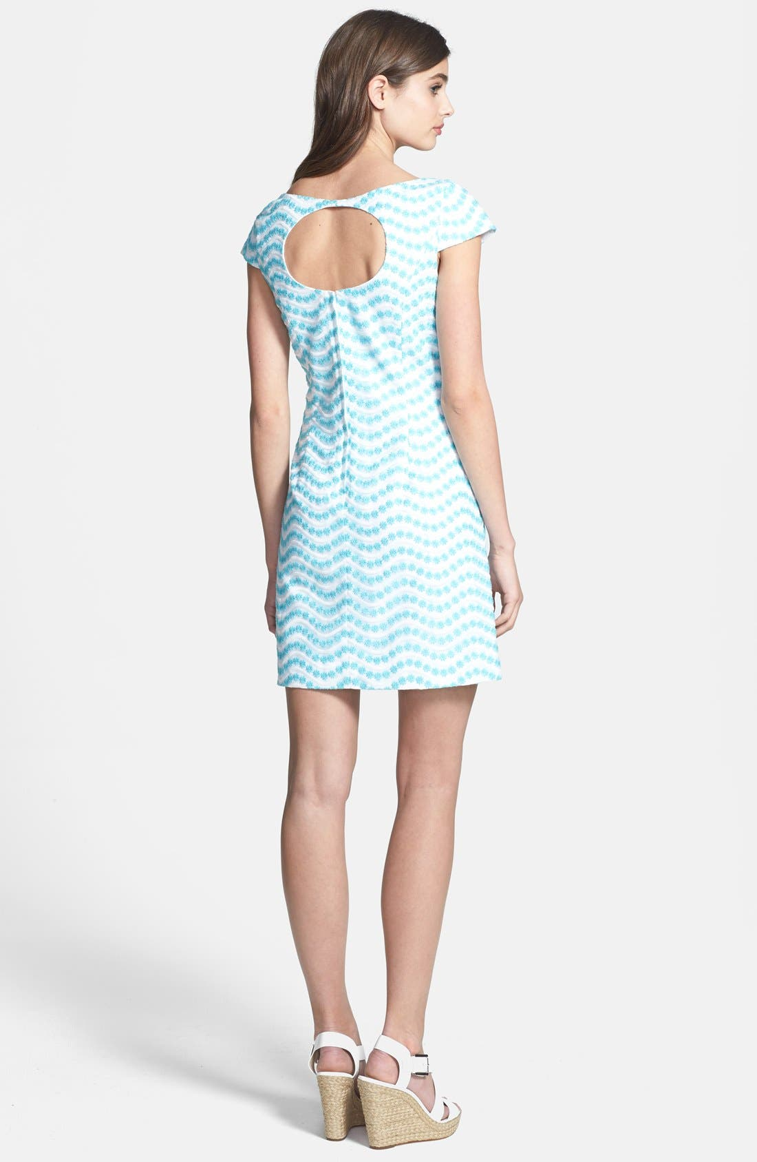 Alternate Image 2  - Lilly Pulitzer® 'Piper' Cutout Back Embroidered Organza Shift Dress