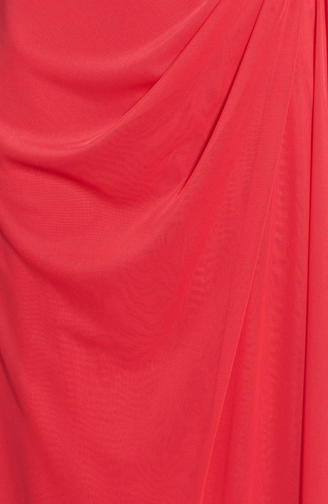 Alternate Image 3  - Xscape Embellished One-Shoulder Gown