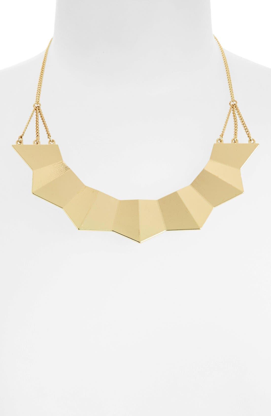 Main Image - Topshop Ridged Necklace