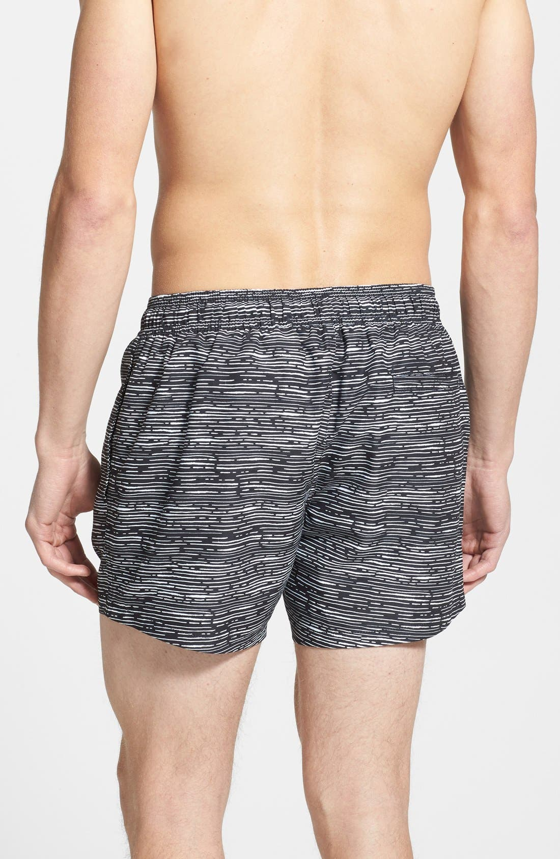 Alternate Image 2  - Topman Line Print Swim Trunks