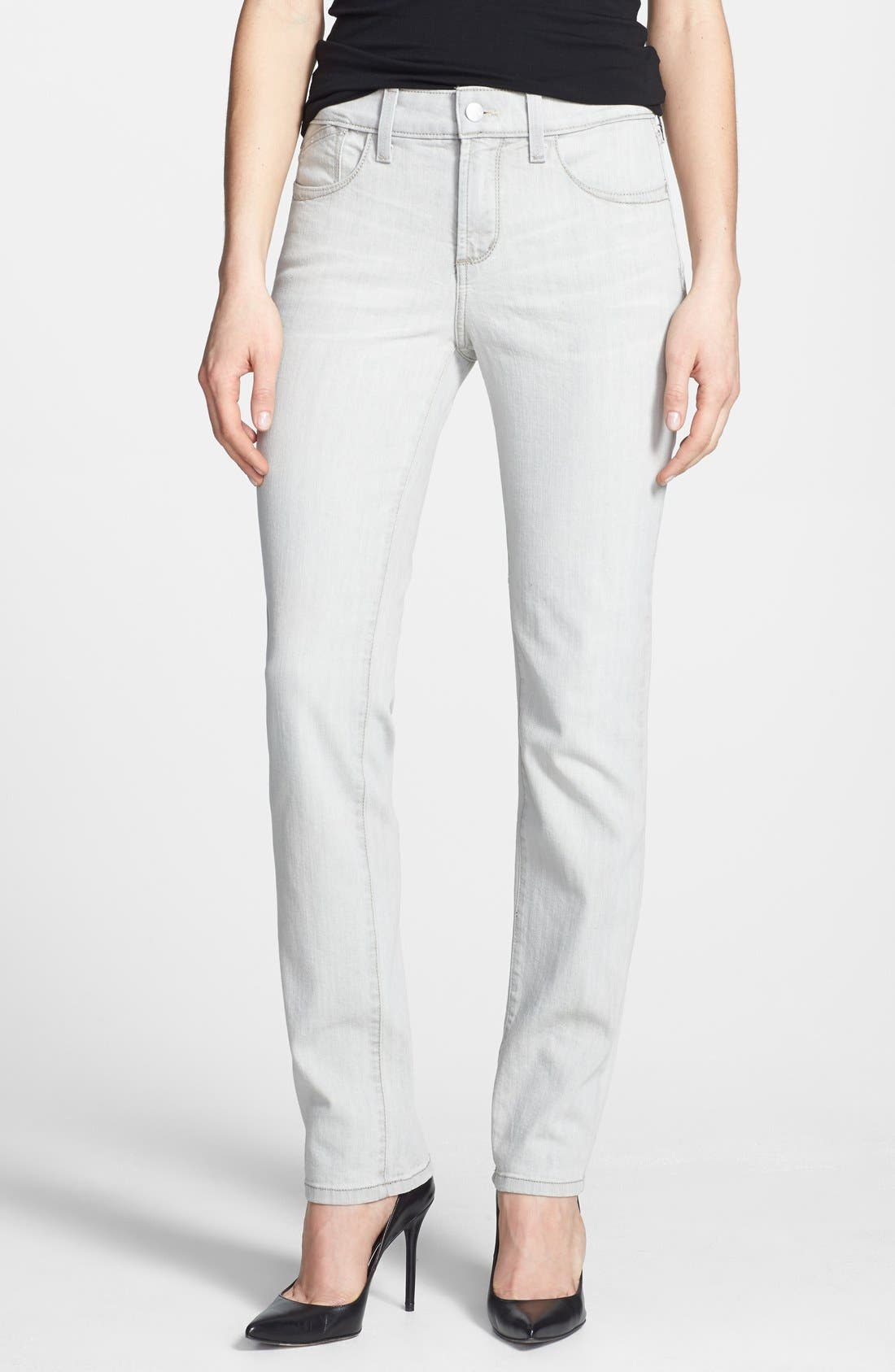 Alternate Image 1 Selected - NYDJ 'Clarissa' Fitted Stretch Ankle Skinny Jeans (Salt Spring)