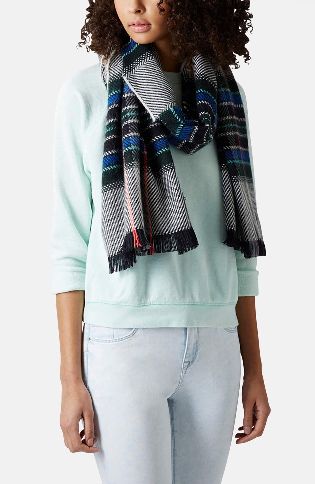 Alternate Image 2  - Topshop Check Scarf
