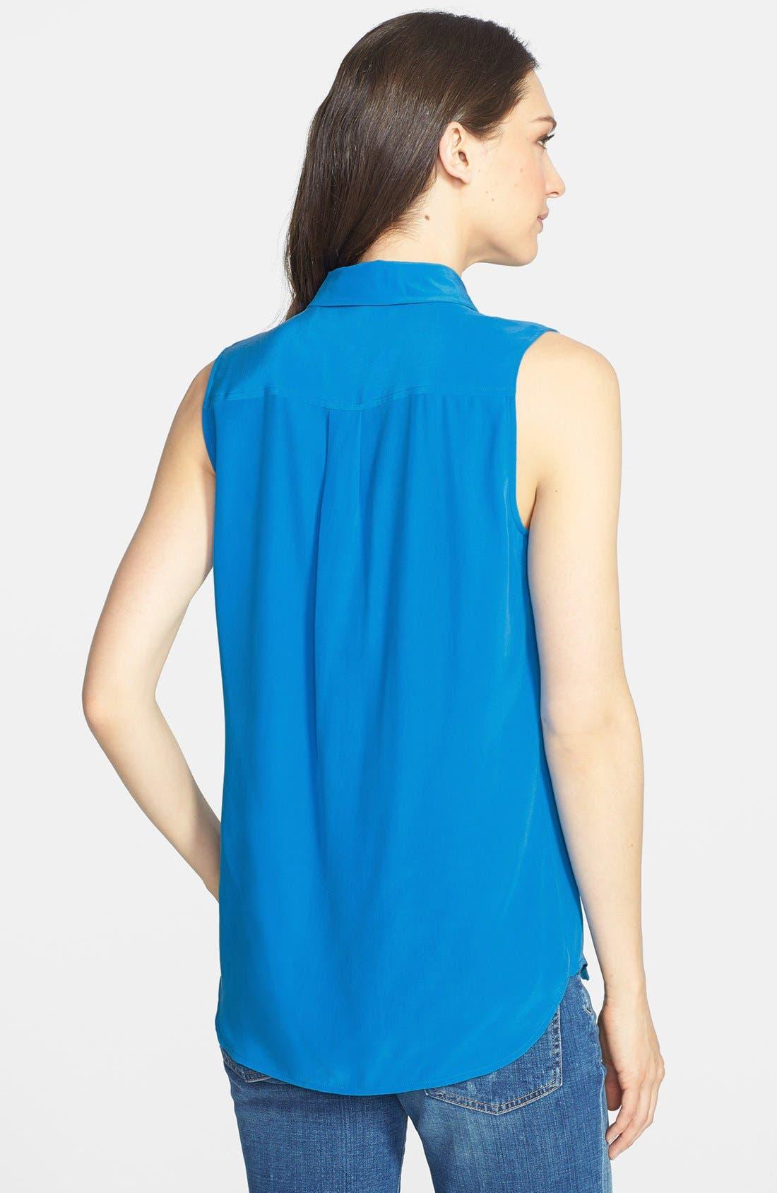Alternate Image 2  - Equipment 'Slim Signature' Sleeveless Silk Shirt