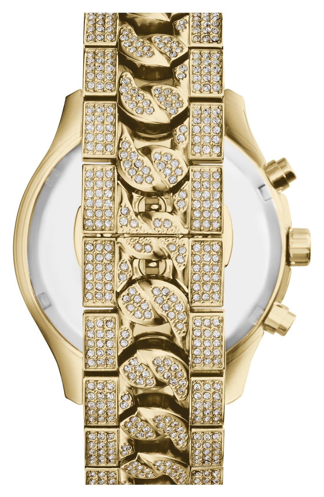 Alternate Image 3  - Michael Kors 'Lindley' Pavé Chronograph Bracelet Watch, 48mm