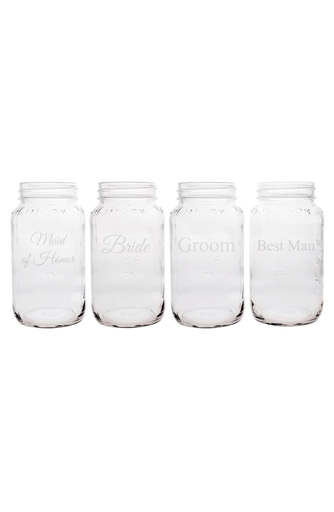 Alternate Image 2  - Cathy's Concepts 'Wedding Party' Mason Jars (Set of 4)