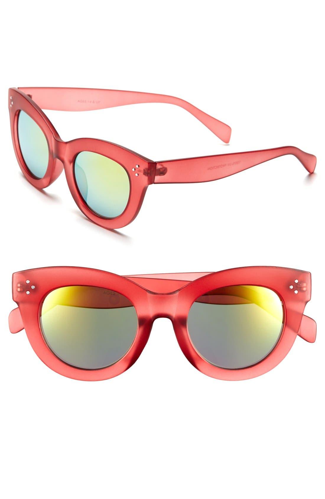 Alternate Image 1 Selected - FE NY 49mm Mirror Lens Sunglasses