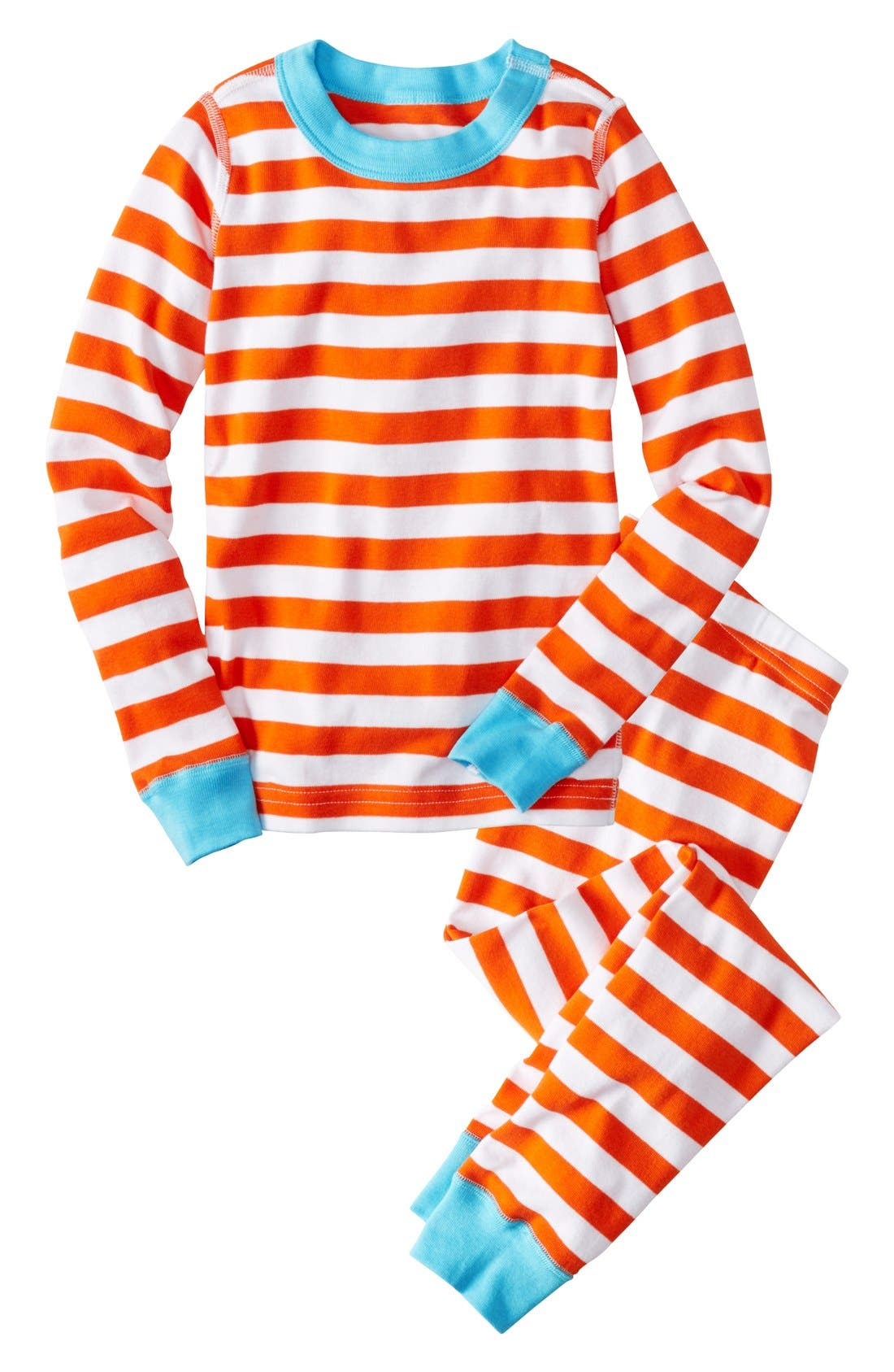 Alternate Image 1 Selected - Hanna Andersson Two Piece Fitted Organic Cotton Pajamas (Baby & Toddler)
