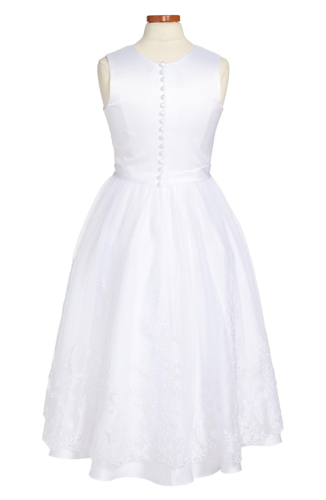 Alternate Image 2  - Joan Calabrese for Mon Cheri First Communion Dress (Big Girls)