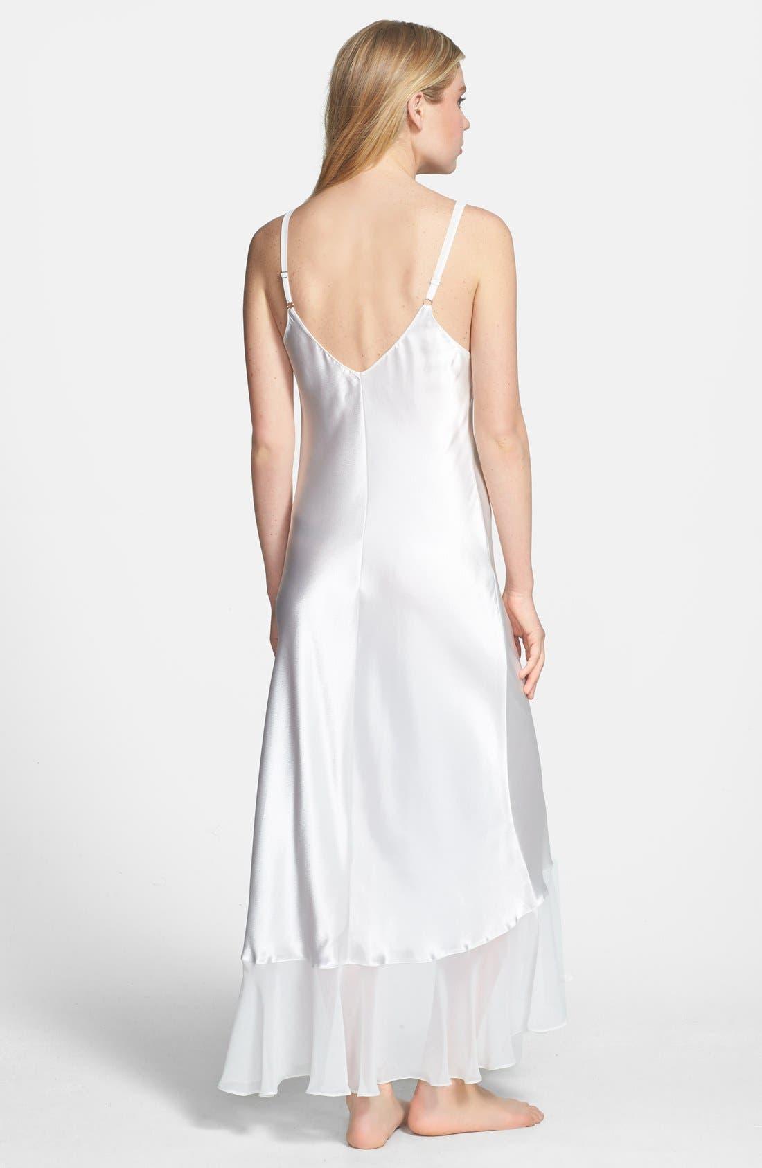 Alternate Image 2  - Oscar de la Renta Sleepwear 'Evening Bliss' Satin Charmeuse Nightgown
