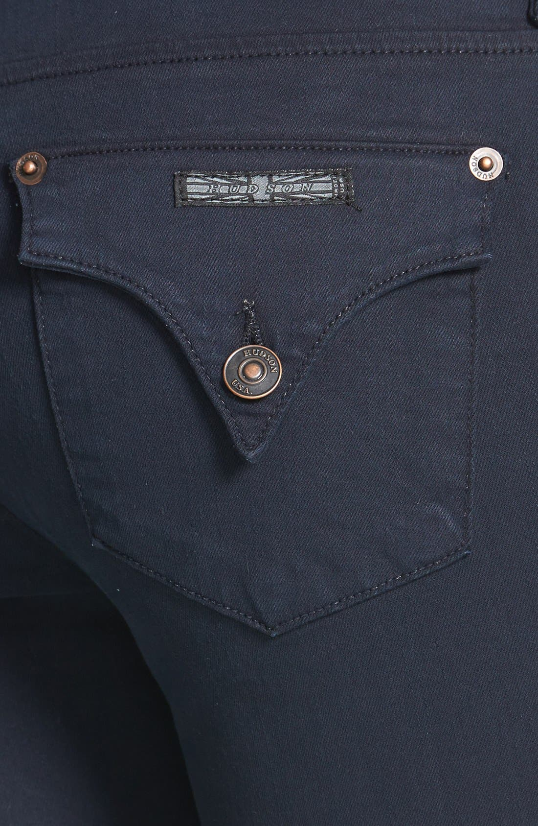 Alternate Image 3  - Hudson Jeans 'Collin' Skinny Stretch Jeans (Black Iris)