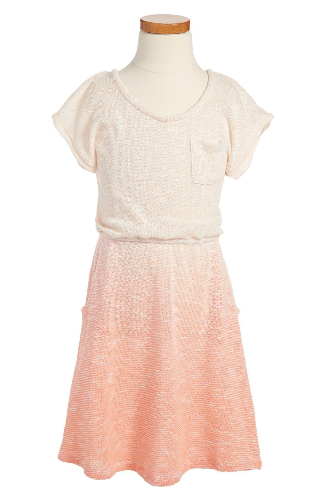 Main Image - Roxy 'Sunny Slope' Short Sleeve Dress (Big Girls)