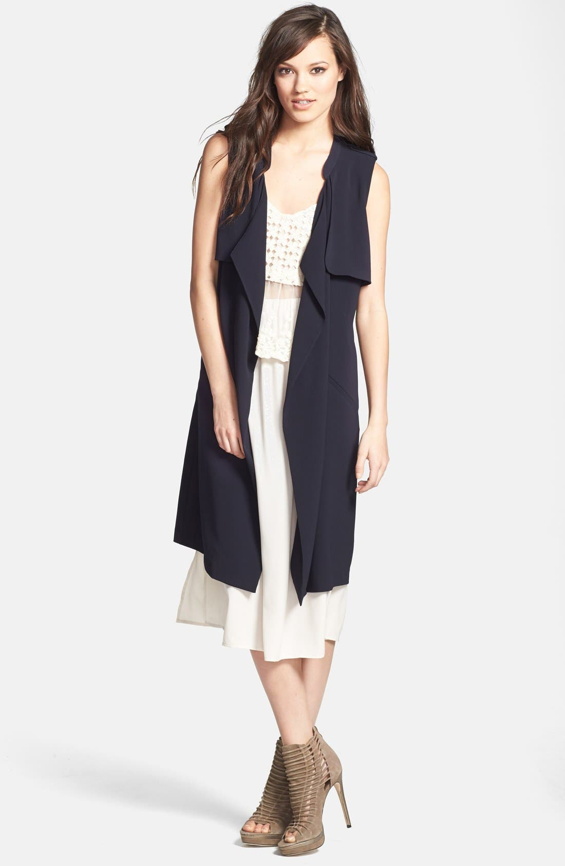 Alternate Image 1 Selected - ASTR Drape Front Trench Vest