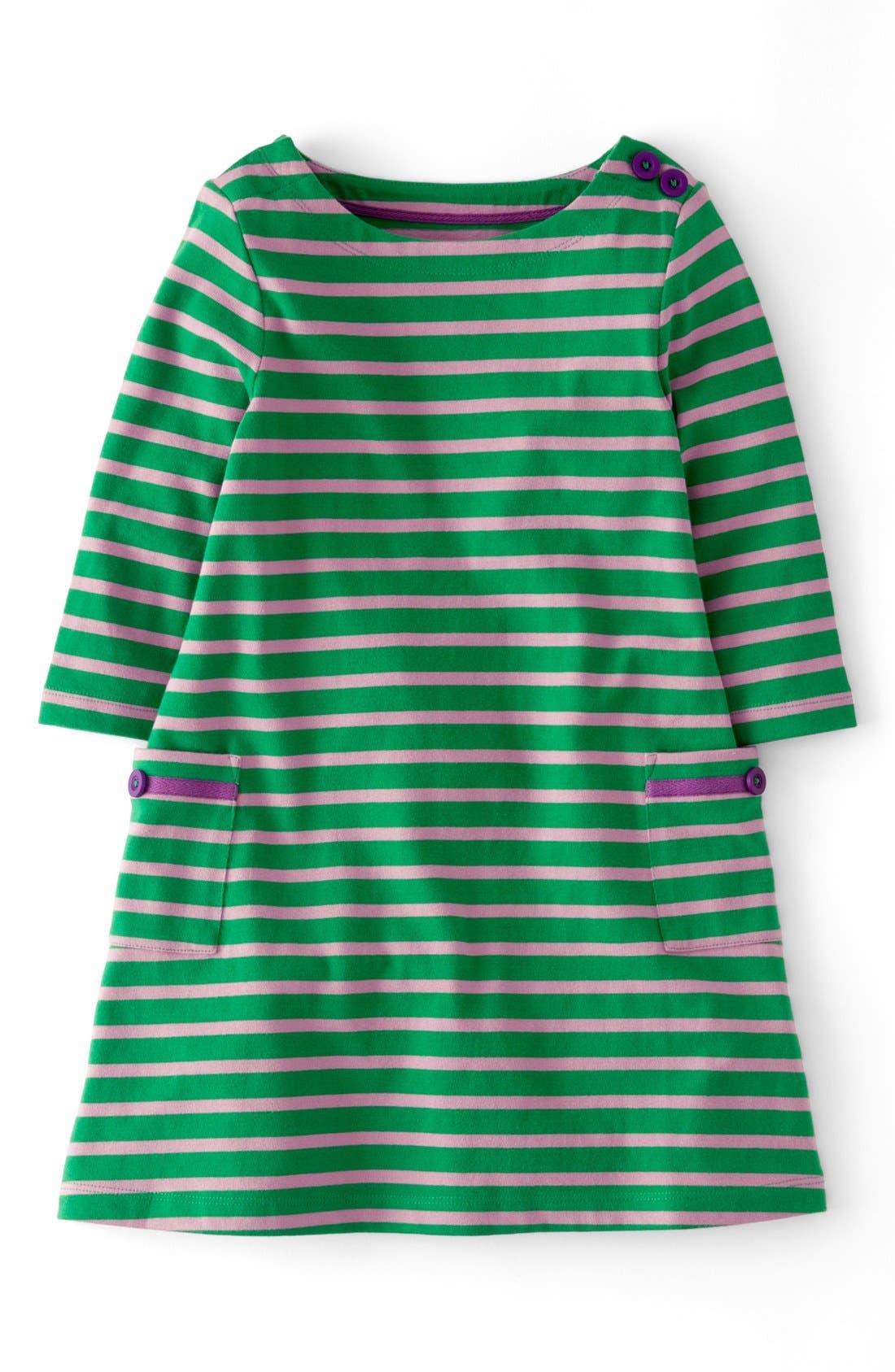 Alternate Image 1 Selected - Mini Boden Stripy Boatneck Dress (Toddler Girls, Little Girls & Big Girls)(Online Only)
