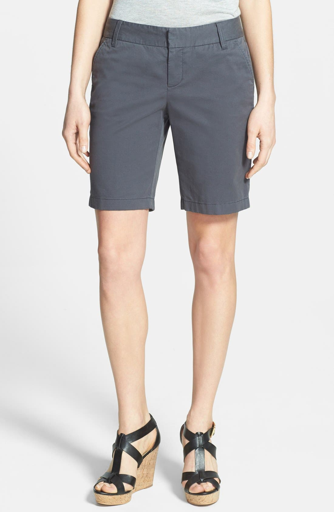 Alternate Image 1 Selected - Caslon® Clean Front Nine-Inch Shorts (Regular & Petite)