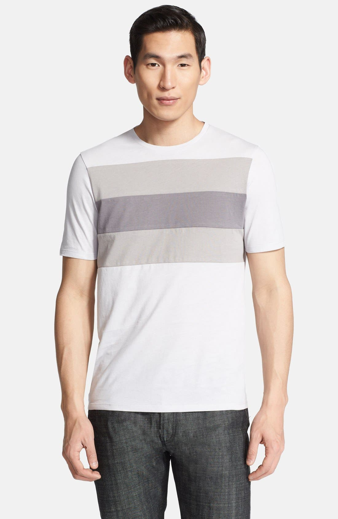 Alternate Image 1 Selected - Z Zegna Colorblock Chest Crewneck T-Shirt