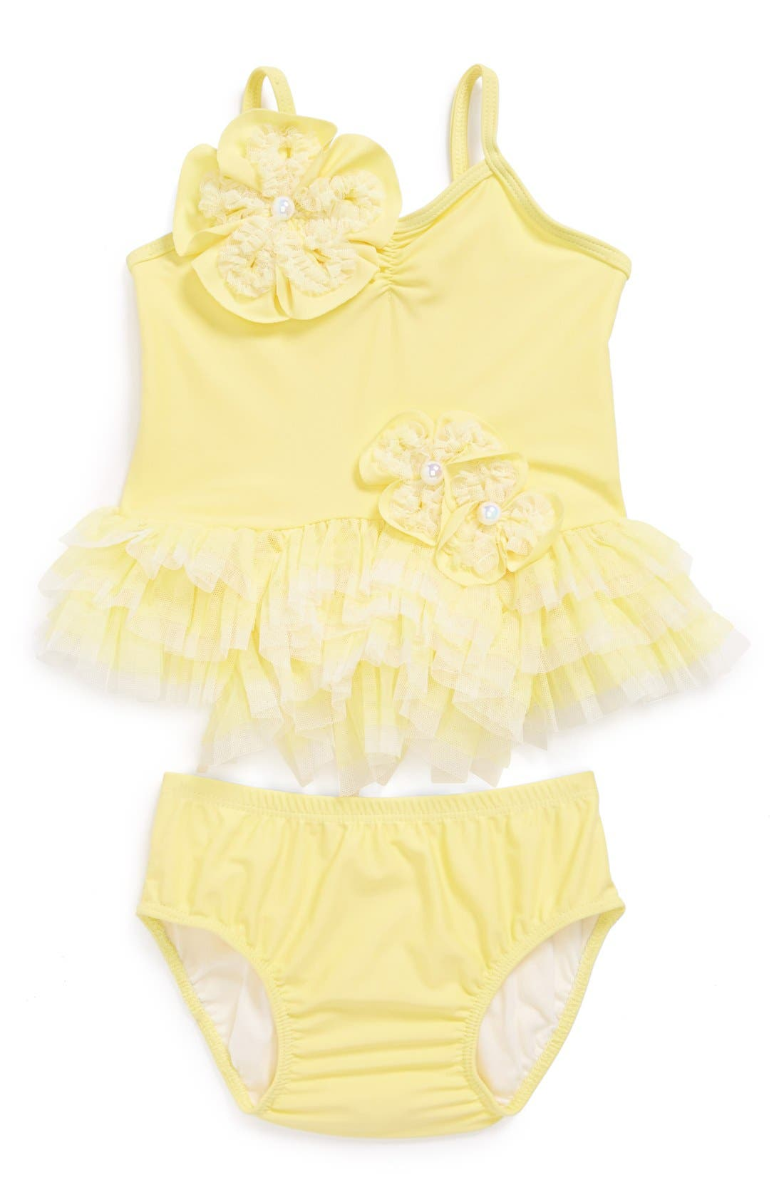 Alternate Image 1 Selected - Isobella & Chloe 'Lemon Drop' Two-Piece Swimsuit (Baby Girls)
