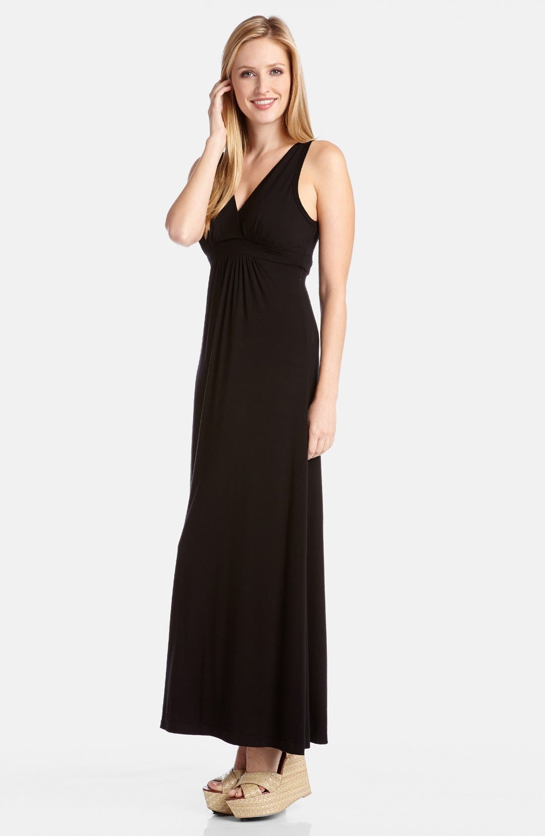Alternate Image 3  - Karen Kane 'Julie' Surplice Jersey Maxi Dress