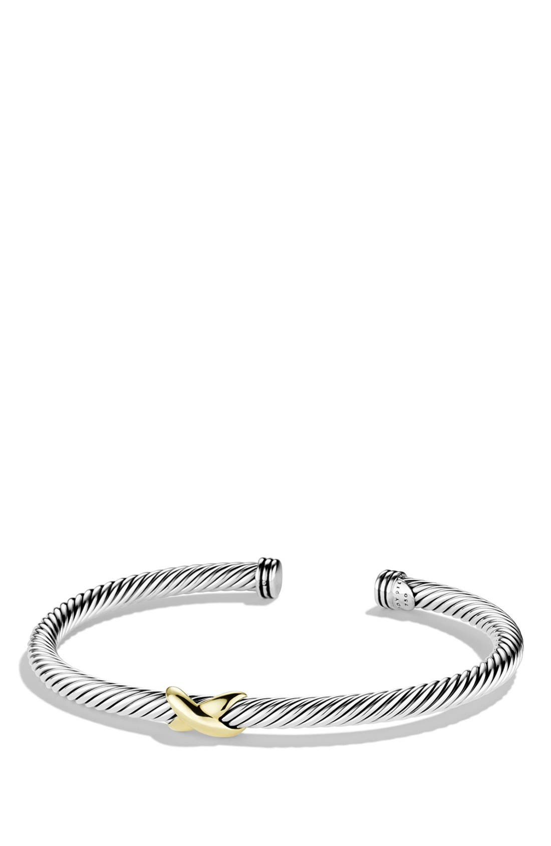 David Yurman 'X' Bracelet with Gold