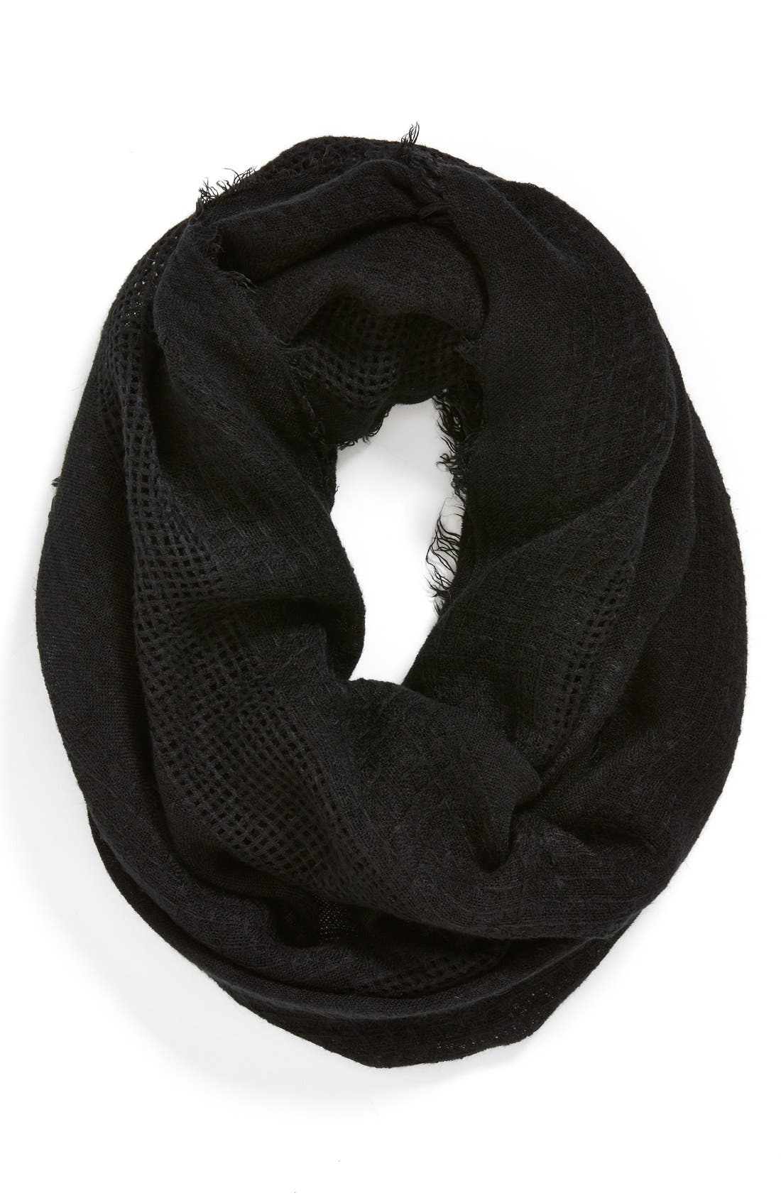 Main Image - Under One Sky Open Weave Infinity Scarf (Juniors) (Online Only)