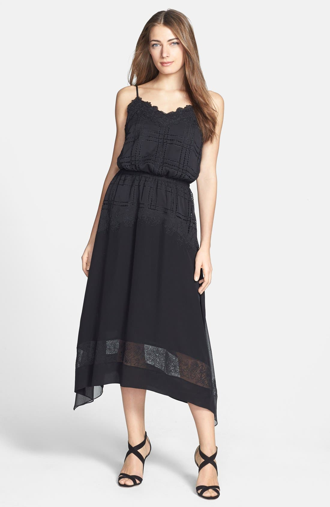 Main Image - Rebecca Minkoff 'Suarez' Embroidered Silk Blouson Dress