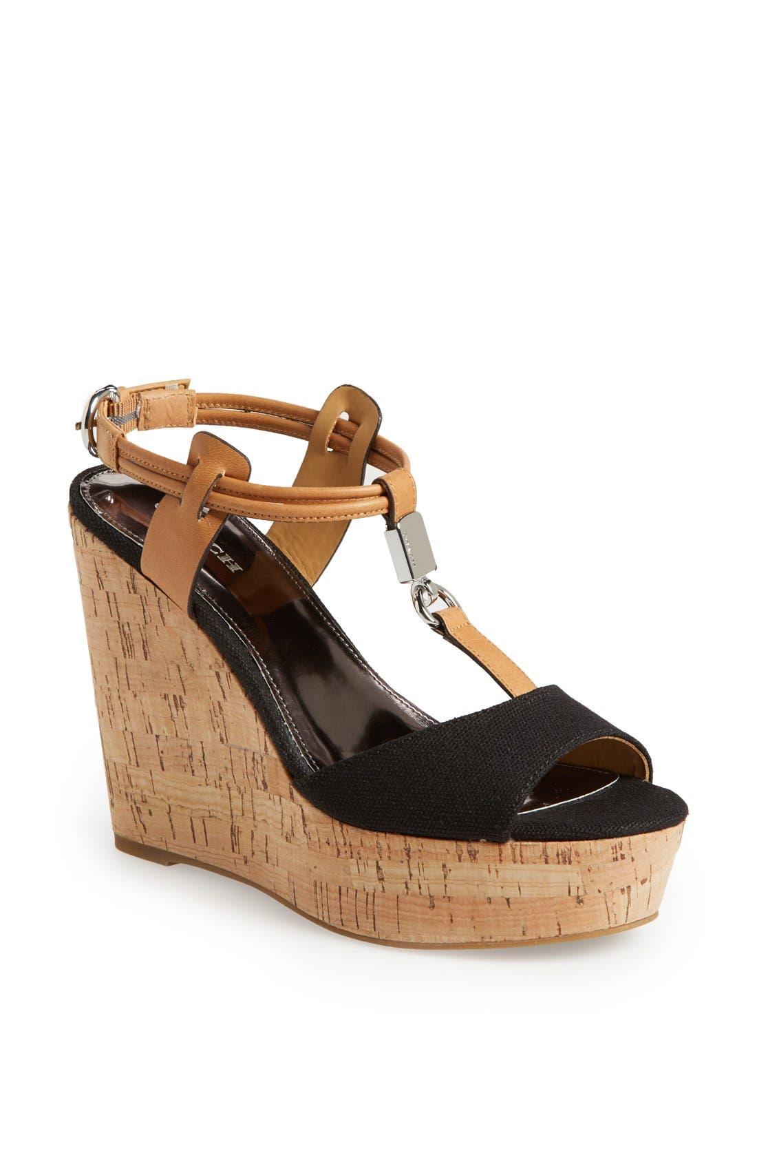 Alternate Image 1 Selected - COACH 'Linden' Wedge Platform Sandal