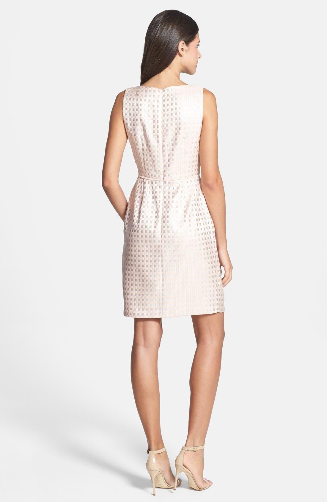 Alternate Image 2  - Gabby Skye Bow Waist Jacquard Sheath Dress