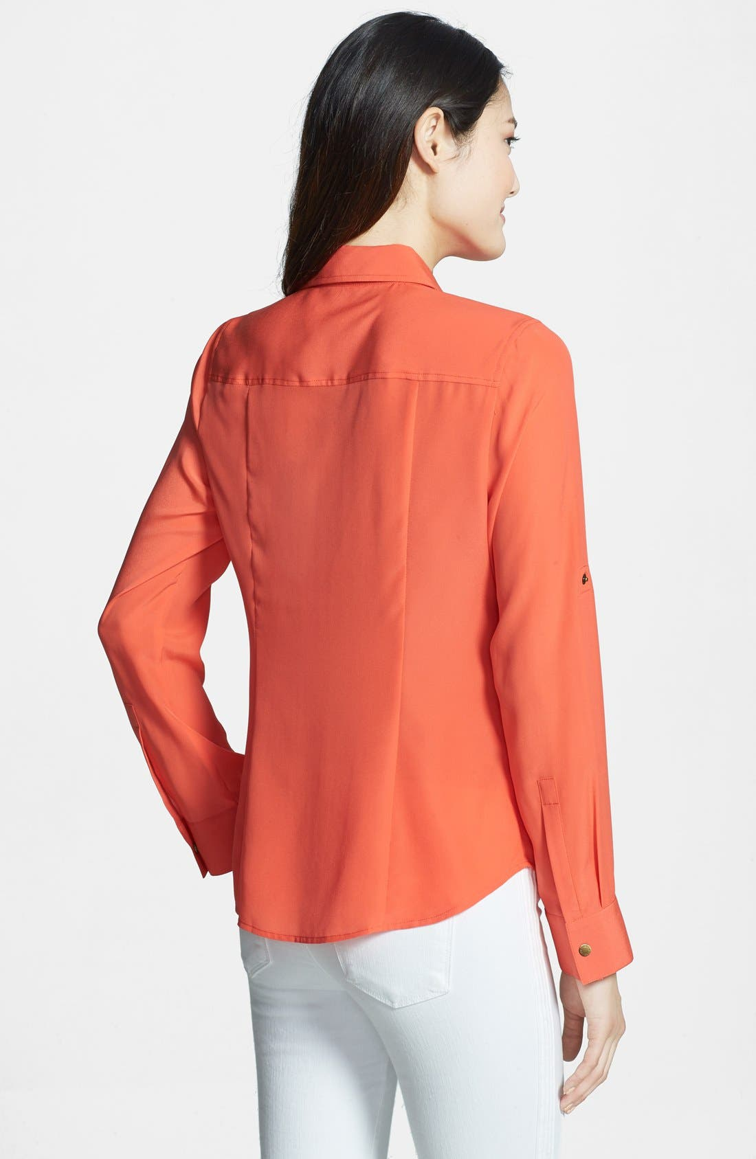Alternate Image 2  - MICHAEL Michael Kors Zip Safari Shirt (Regular & Petite)